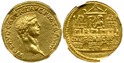 Jan18 Claudius Gold Aureus F